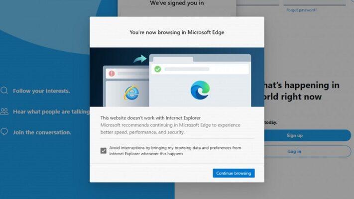 Cách sửa lỗi internet Explorer buộc mở các trang web trong Edge