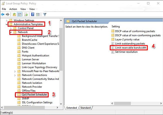 Cách bỏ giới hạn băng thông trên Windows 10 đơn giản